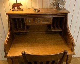 Antique roll top desk (interior)