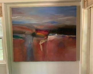 """Marlene Lenker """"Santorini at Dusk"""" (1982) 48x56"""