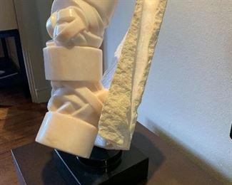 Andrea Grassi SpirilorCubia (1988) white marble sculpture