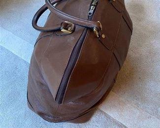 Barney's Leather Travel Bag