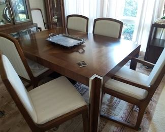 Mid Century Dinning Table w/6 chairs by Thomasville