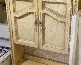 """Shabby Distressed Kitchen Cabinet Pantry Approximately  30"""" Wide 79"""" Tall 18"""" Deep"""