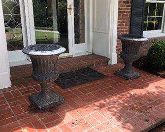 1.  Set, Composite Decorative Black Planters, $80.00