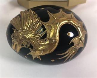14.  Detail, Solid Black Dragon Egg, perfect