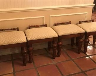 Four Matching Bench Seats
