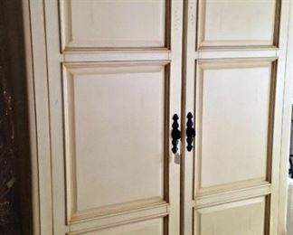 The entertainment armoire has great storage.