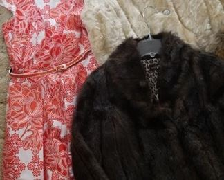 Vintage and modern women's clothing