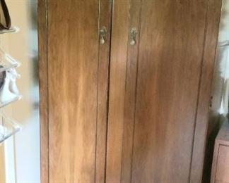 Slender antique armoire