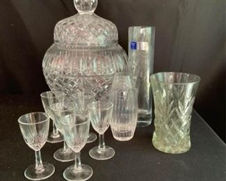 Crystal and Fancy Cristallerie Glassware