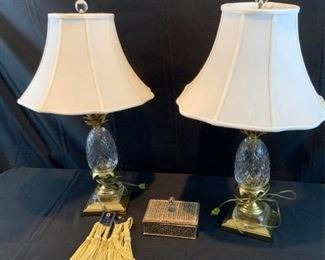 Crystal Pineapple Lamps