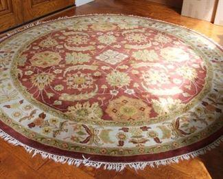 "#8.  $150.0.00. Entry rug 94"" diameter"