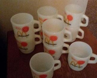 10 Fire King McDonald's mugs