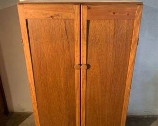 Wooden Storage Cabinet on Wheels Location 1C