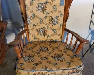 Vintage Rocker with Blue Floral Fabric