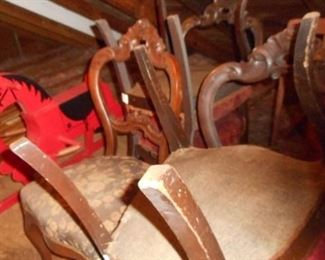 Set of 6 Victorian  Mahogany stained rosewood chairs