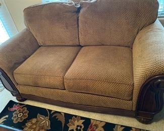 Lovely comfy sofa with matching love seat