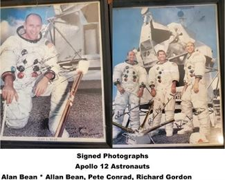 Astronaut Signed, Apollo 12 photographs