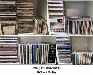 Huge selection of Music CDs, movies and tv series DVD and BluRay