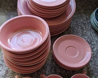 Vintage 40 piece Homer Laughlin Fiesta Ware