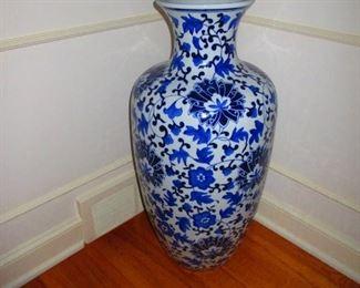 Blue & White Floor Vase $50