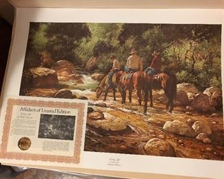 Gorgeous lithographs.  This one has a certificate of authenticity.  There are approximately 25 beautiful lithographs and prints.