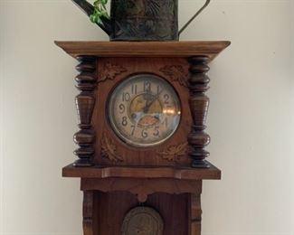 antique grandmother wall clock