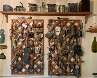 Vintage kitchen tools folk art