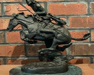 Frederick Remington Cheyenne Indian Native American Horse bronze