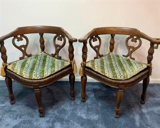 Pair of MCM Corner Chairs