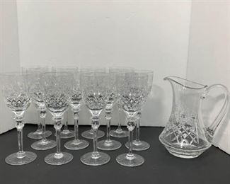 Rogaska Gallia Water Goblets and Pitcher