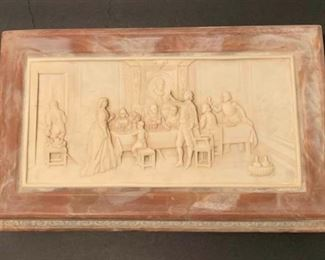 Vintage Incolay Stone Jewelry Box