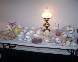 CUP & SAUCER COLLECTION, HOLIDAY DINNER SET & MORE