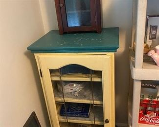 Vintage Cabinet with Glass Door