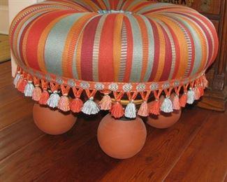 McKenzie Childs tuffet stool