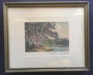 Signed Wallace Nutting hand colored photo