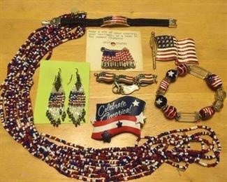 Sample of patriotic jewelry