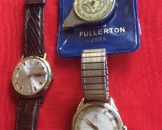 "Marcel & Cie wristwatch, Fullerton map measure & Omega ""Constellation"""