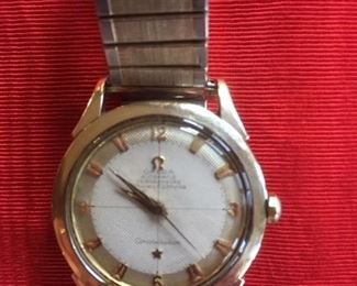 """Omega """"Constellation"""" 24 Jewel Automatic w/date, pie tin dial & crown"""