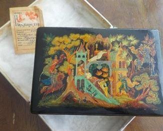 Russian lacquer box Sleeping Beauty