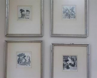 4 etchings by Margaret Gaug
