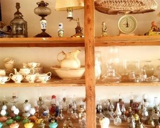 Many more vintage miniature lamps
