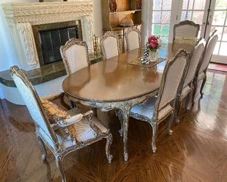 Baker dining room set with 8 chairs
