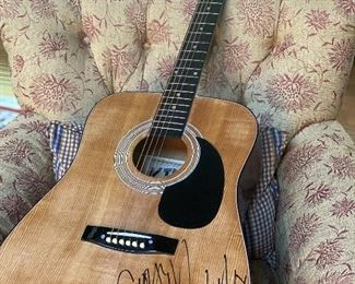 George Michael signed guitar