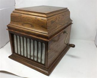 Antique Edison Wax Cylinder Phonograph