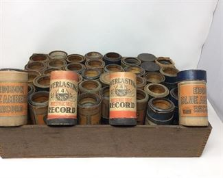 Antique Edison Wax Cylinders for a Cylinder Phonograph