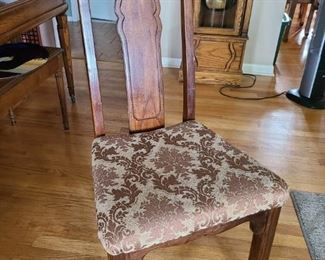 6 dining room chairs (2 with arms)