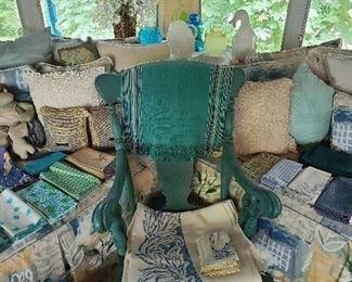 Assorted Linen & Rocking Chair