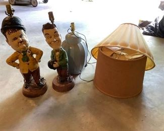 Vintage Laurel and Hardy Lamps