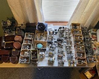 Vintage Fishing Reels GALORE!-many with boxes, cases