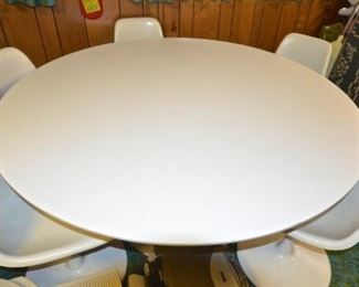 Table and 5 chairs.